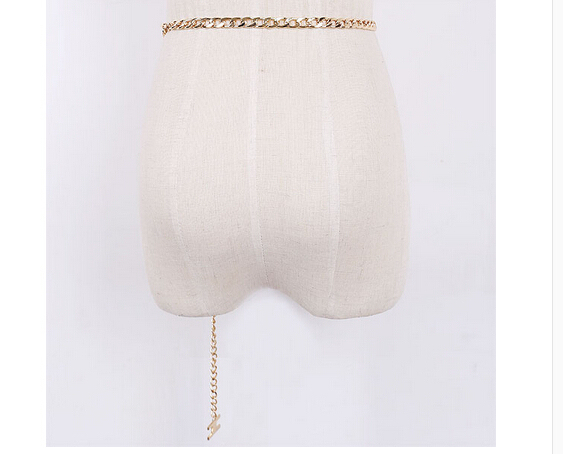 new 2015 gold chain belt women's all-match belts letter h link wide  belt fashion belts for women Female Straps Waistband Ladies