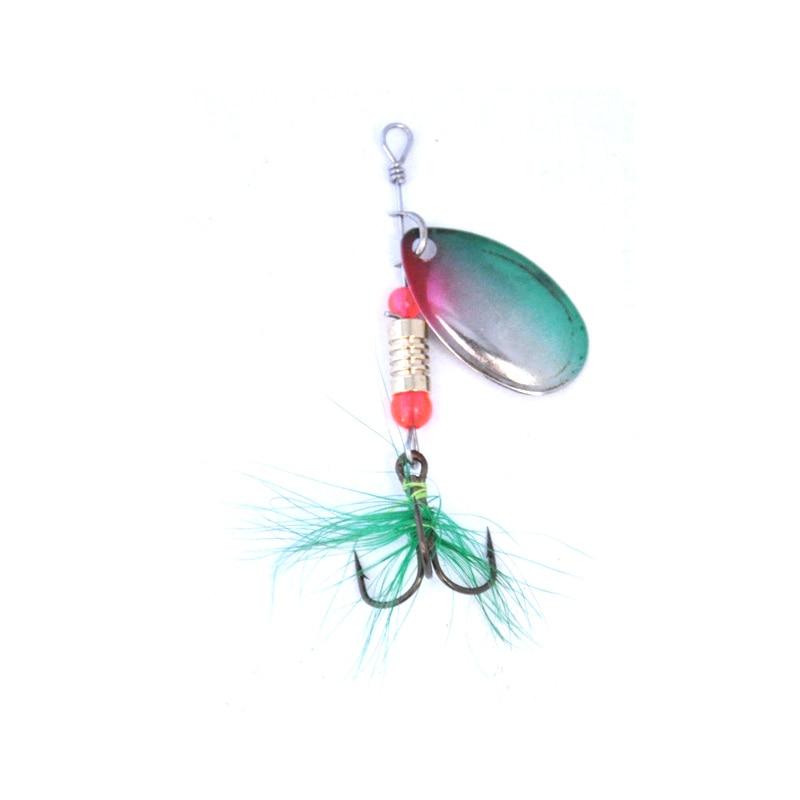 OLOEY Metal Spoon Lure Hook  Fishing  Lure  Spinner Bait Lure Accessories Spinner  Lures  Spoons  For Ocean Beach Fishing Stream
