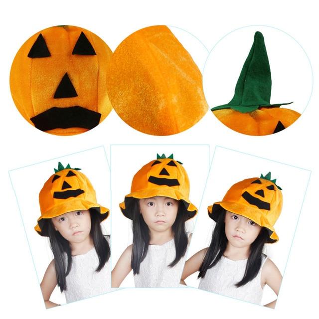 Fiesta de Halloween props decoración naranja calabaza paño sombrero  sonriente Cara sombreros novedad diseño de la ac19f2c10d7