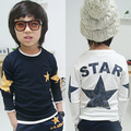 3-7age Free shipping!Hot sale 2015 Spring,autumn child clothes,baby boys t-shirt,Casual,Star,boy long sleeve clothing.kids wear