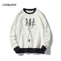 Wholesale M XXXL Cool Men Hoodies Pullover 4 Light color 2018 Autumn Coat Winter Loose Thick Simple Sweatshirt Male Pullover C74