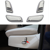 4PCS Chrome Inner Seat adjust button cover trim for Mercedes Benz C Class W204 2008 14