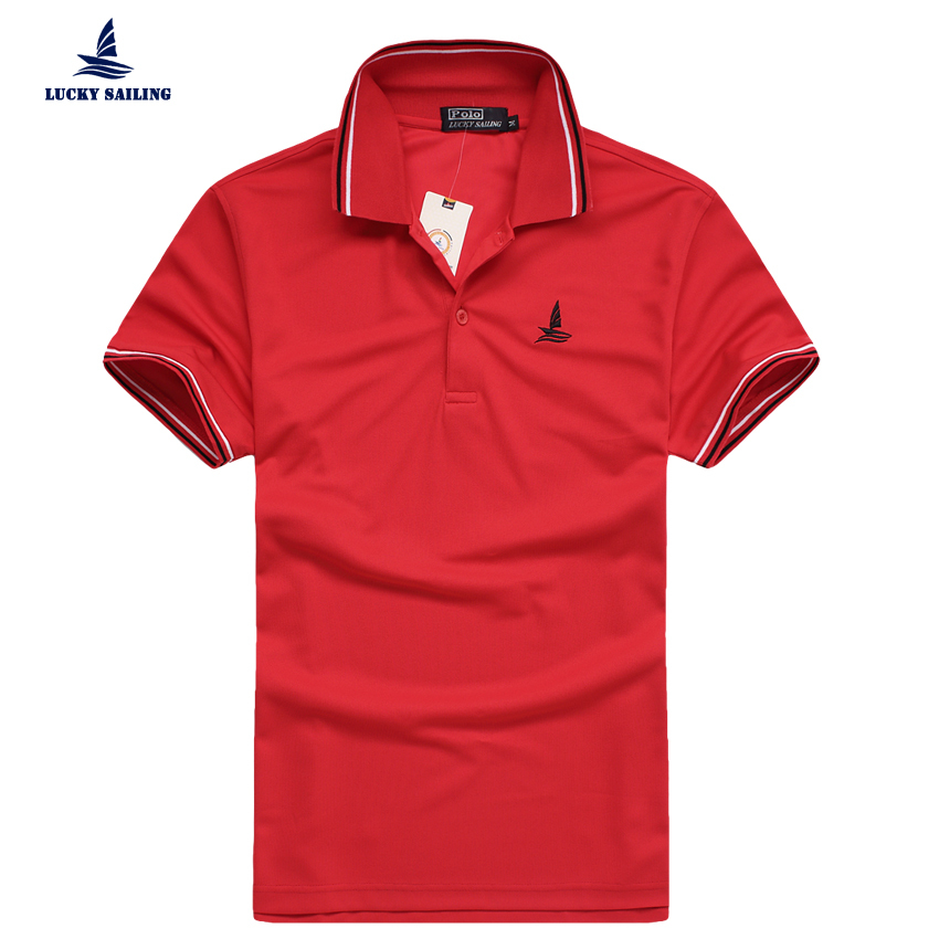 LUCKY SAILING 2015 New Fashion Brand Men Collar camisa