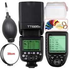 Godox TT685S 2.4G HSS 1/8000s TTL Camera Flash+XPro-S Trigger for Sony A77 II/A77/ A99/DSC-RX10/A7R/A350 /A7R II/ A9/ ILCE-6000L godox xpro s xpros flash trigger transmitter with ttl 2 4g wireless x system hss lcd screen for sony a7 ii a99 ilce 6000l a9 a7