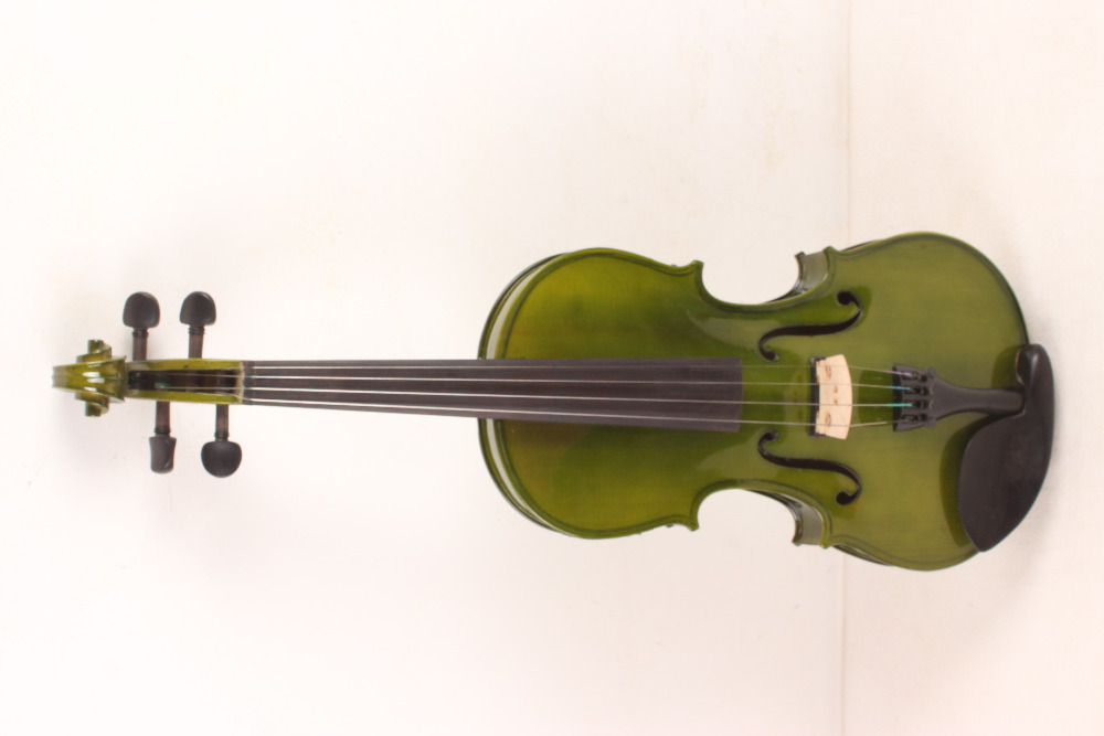 ONE 4 string 4/4 Violin Electric Violin Acoustic Violin Maple wood Spruce wood Big jack GREEN color