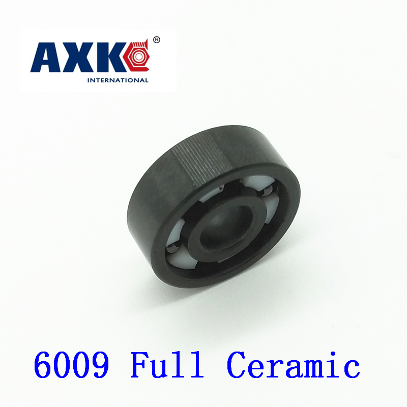 Axk 6009 Full Ceramic Bearing ( 1 Pc ) 45*75*16 Mm Si3n4 Material 6009ce All Silicon Nitride Ceramic Ball Bearings цена