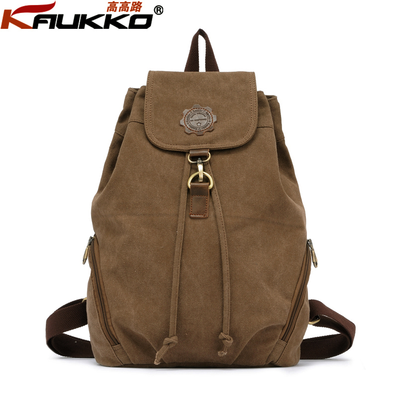 Kaukko Vintage Female Backpack Student Bags Cavan Backpacks fasion Style Rucksack cool school bag фен remington keratin therapy pro dryer ac8000 page 8