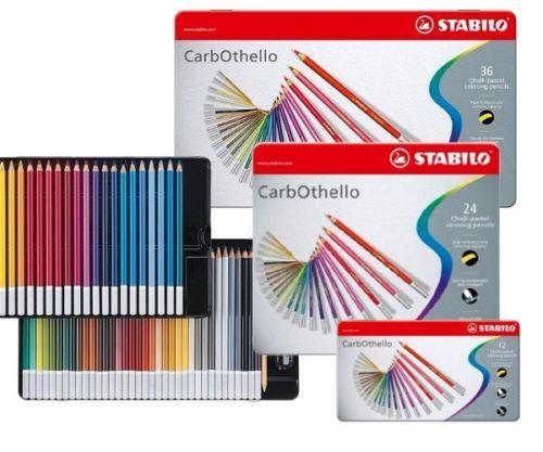 Stabilo CarbOthello Artist Pastel Chalk Colouring Pencils  4.4 Mm Lead Diameter - 12/24/36/48/60 Colors Tin Case Set