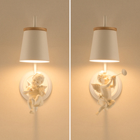 Nordic Lighting Bedroom Lamps Modern Creative Angel Wall Sconces Child Marriage Room Office Led Wall Lights Bedside Lamp