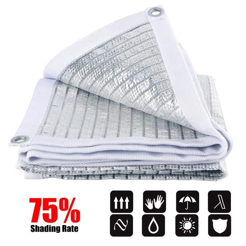 75% Sun Shade Sails Garden Awnings NEW Aluminum Foil Sun Shade Net Reflective Sun Shelter Sunshade Sails Outdoor Sun Sailing