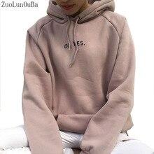 ZuoLunOuBa Autumn Winter Fashion Women Fleece Thickening Long sleeve Sweater Let