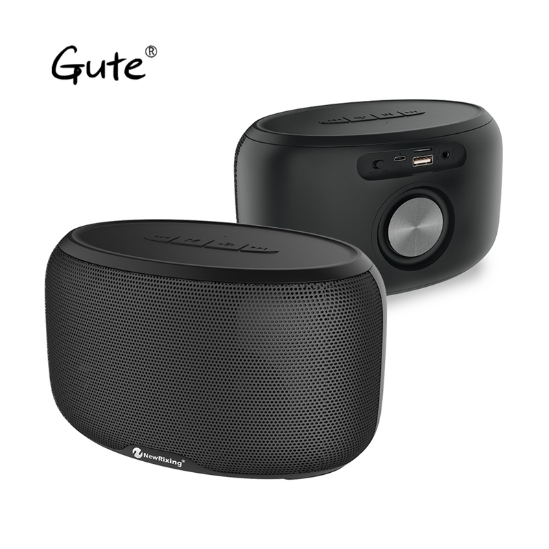 US $46 57 |Gute 2018 Bluetooth speaker match Home Projector 10W desktop  Theater TWS Radio FM bass Amplifier caixa de som portatil altavoz-in  Soundbar