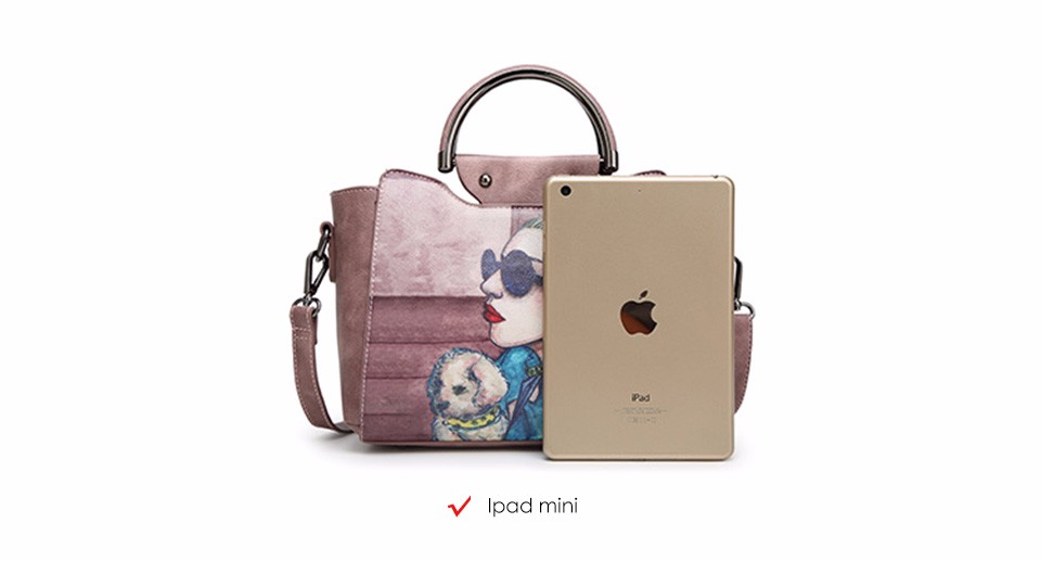 18 Famous Designer Brand Tote Bags Women High Quality Leather Handbags Shoulder Bag For Ladies Vintage Print Handbag Blue Pink 4