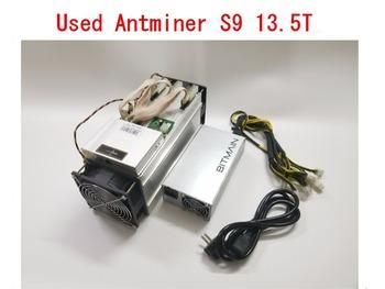 Używane AntMiner S9 13 5T z zasilaczem koparka bitcoinów Asic BTC BCH górnik lepiej niż WhatsMiner M3 M10 T9 + Ebit E9 Avalon 841 tanie i dobre opinie YUNHUI 10 100 1000 mbps 1350w Used Antminer S9 13 5t