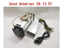 Используется AntMiner S9 13,5 T с Питание Bitcoin Шахтер Asic BTC МПБ Шахтер лучше, чем WhatsMiner M3 M10 T9 + показатель Ebit E9 Avalon 841