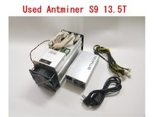 AntMiner S9 13,5 T usado con fuente de alimentación Bitcoin Miner Asic BTC BCH Miner mejor que WhatsMiner M3 M10 T9 + Ebit E9 avail 841(China)