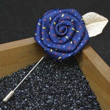 UALGL Fashion Handmade Fabric Lapel Pins Flower Brooches For Men Wedding Suit Decoration Shirt Jewelry Women Accessery Hot-sale