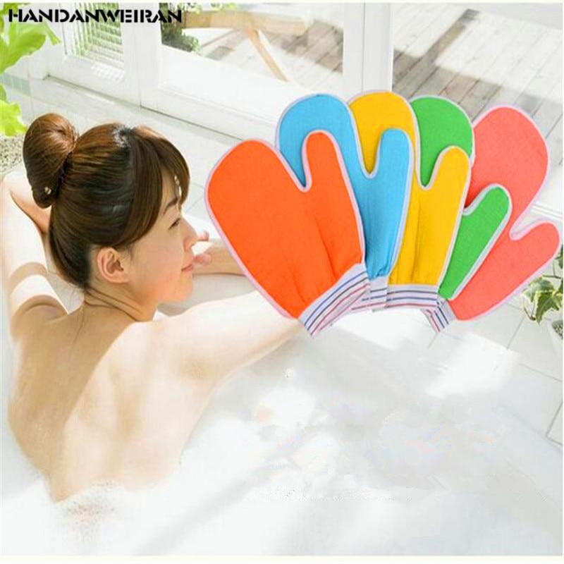 een stukken Vinger wrijven badhanddoek verdikking bad wrijven terug - Huishouden