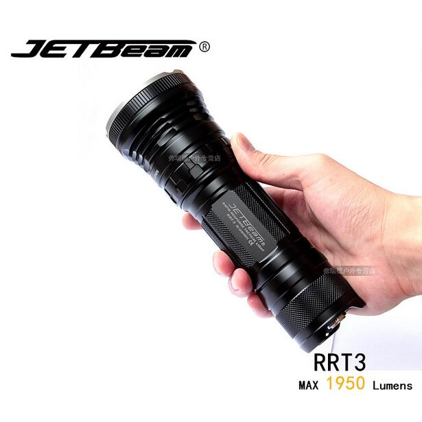 Original JETBEAM RRT3 Cree XM-L T6 LED 1950 lumens flashlight daily torch Compatible with 3*18650 battery for self defense daily immune defense в москве