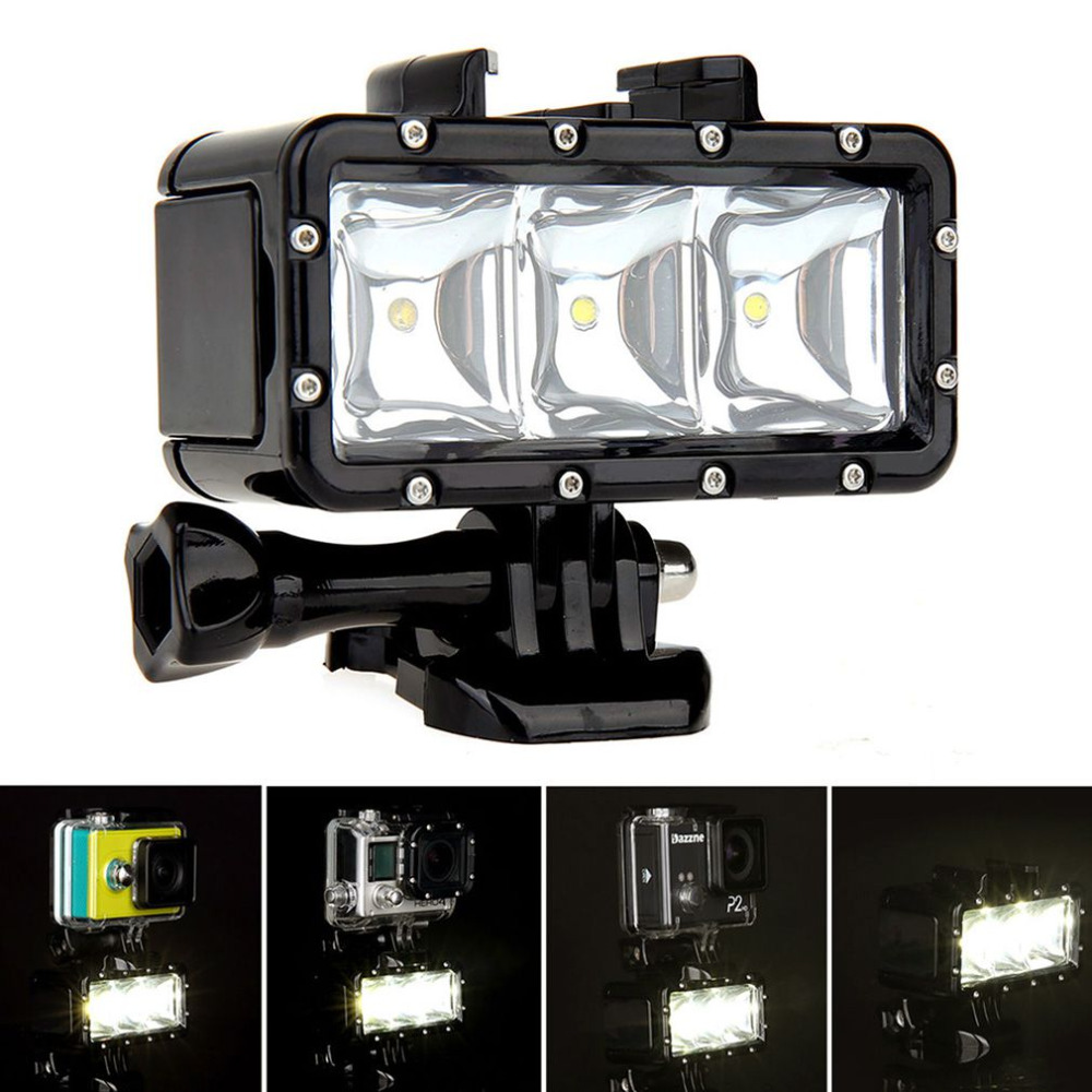 Persevering 30m Underwater Light Waterproof Diving Led Video Spot Light Lamp Mount Buckle Screw Strape Kit For Gopro Hero 4 3 Lights & Lighting 3 Quality Attractive Designs;