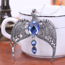 Movie Jewelry Horcrux Ravenclaw Pendant Necklace Crown Magic Academy Crystal Eagle Necklace Cool Gift For Fans CS910