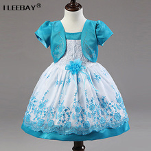 New Arrival Girl Dress 2017 Summer Chiffon  Flower Princess Dresses Kids Wedding Party Bridesmaid Clothes Toddler Girl Costume