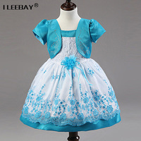 Girl Princess Dress 2016 New Summer Tulle Flower Formal Dresses For Girls Wedding Party Bridesmaid Clothes