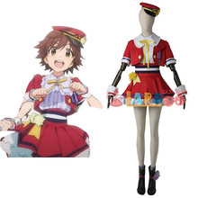 2019 Hot Sale Cosplay Costume THE IDOLM@STER new generations  girls Mio TOP+Skirt lovely full sets bandai фигурка the idolmaster cinderella girls new generations mio honda