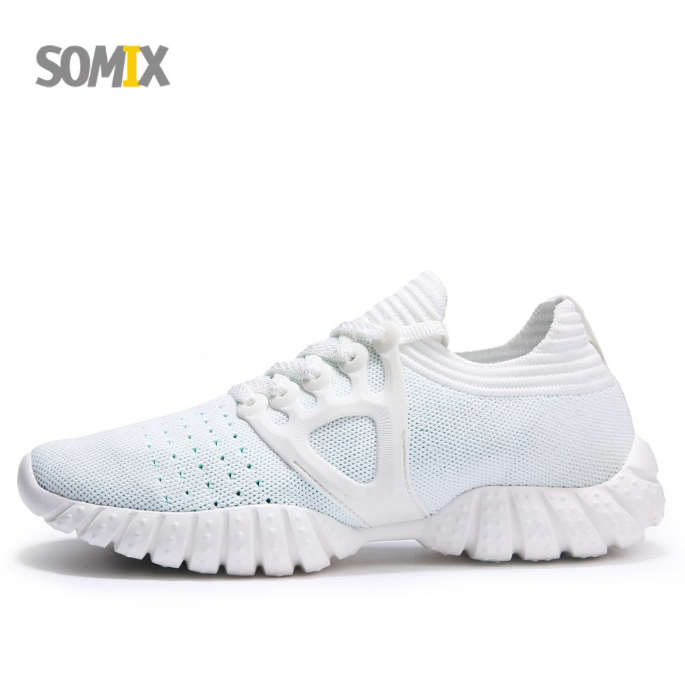 Somix Brand Running Shoes for Men 2018 Mesh Breathable Athletic Sneakers Lightweight Walking Trainers Sock Dart Sport Shoes Men peak sport men outdoor bas basketball shoes medium cut breathable comfortable revolve tech sneakers athletic training boots