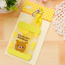 Kawaii Bear MILK Bottle Shape - 12*7CM Silicone BUS & ID Card Holder Case Pouch BAG Holder Case Cover(China)
