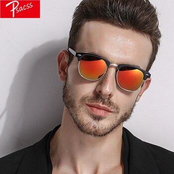 Psacss 2018 Retro Sunglasses Men Women Polarized Semi-Rimless HD Mirror Sun Glasses Male Feamle Vintage Lunette De Soleil Homme
