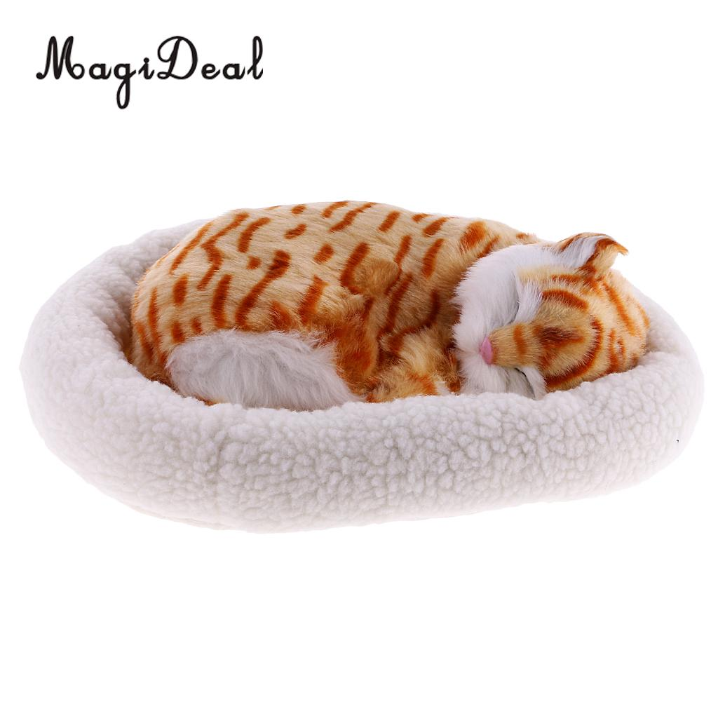 Cuddly Breathing Stuffed Animals Plush Cat Toy Kids Children Girls Gift Home Car Office Table Decoration Persian Kitten