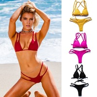BANDEA 2017 Women Swimwear Brazilian Bikini Set Sexy And Hot Swimsuit Push Up Swimwear Bikini Thong