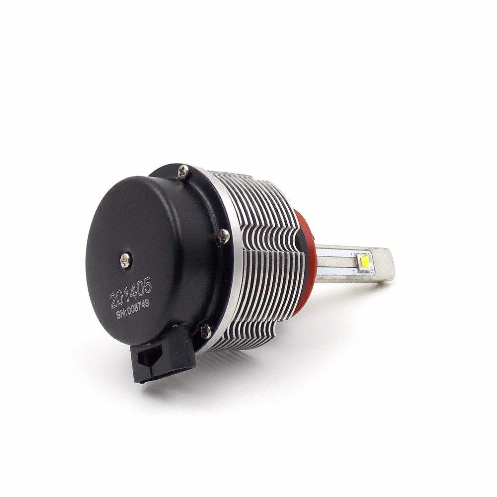 Высококачественная автомобильная светодиодная лампа для фары конверсионный комплект H8/H9/H11 12 V 24 V 6000K 2400LM 20W автоматический головной светильник (пара) - 3