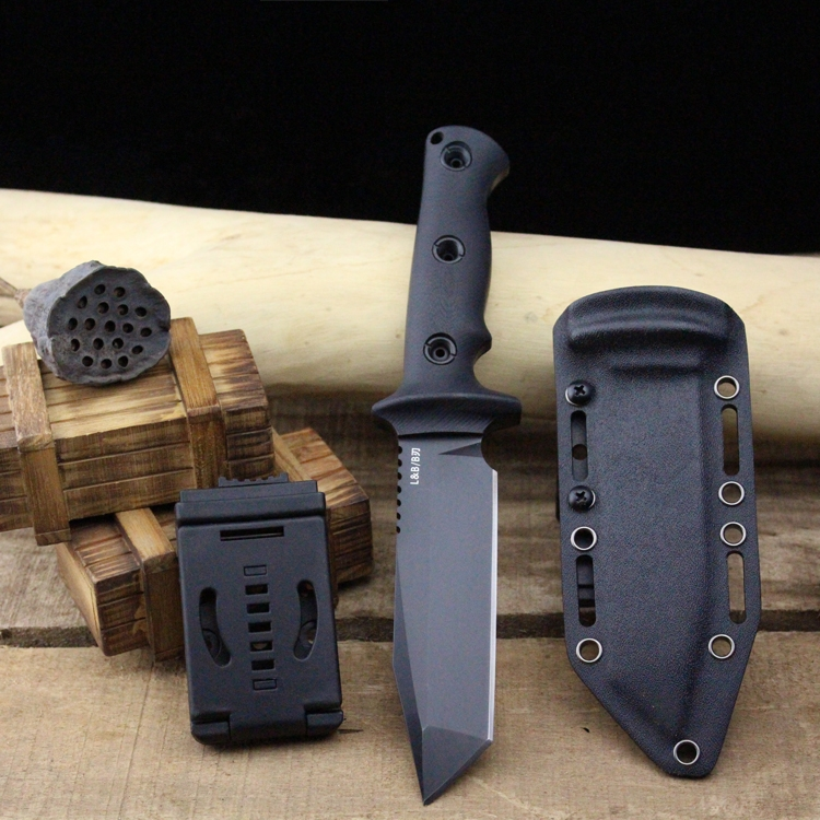 Very sharp High-end Brush Finish DC53 Blade Fixed Tactical Knife,Three Edge Survival Knives Fixed Blade very sharp bronze stonewashed d2 blade survival outdoor knife fixed blade micarta straight knife hunting tactical knives