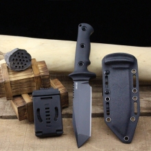 Very sharp High-end Brush Finish DC53 Blade Fixed Tactical Knife,Three Edge Survival Knives Fixed Blade