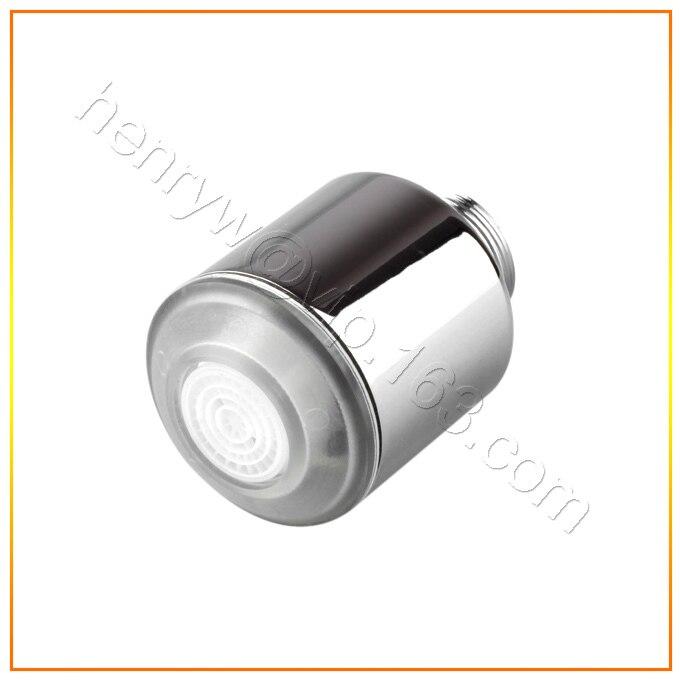 Оптовая продажа-люкс латуни <font><b>LED</b></font> аэратор, хром свет кран аэратор, 3 цвета изменены Температура воды, бесплатная доставка x4103m