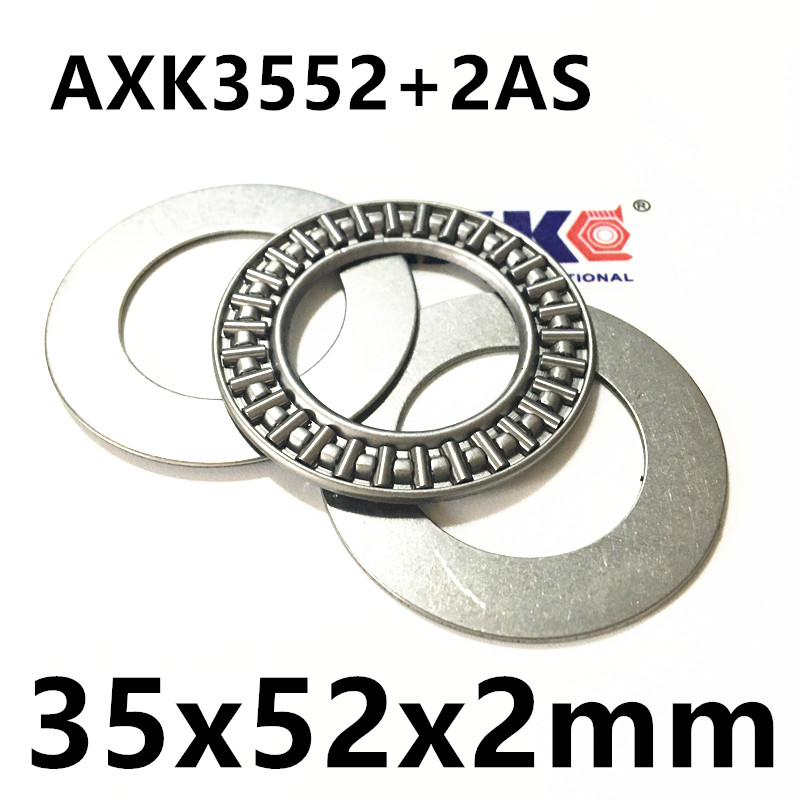 Thrust Needle Roller Bearing AXK3552+2AS 35x52x2mm Thrust Bearing for 35mm shaft 0 25mm 540 needle skin maintenance painless micro needle therapy roller black red