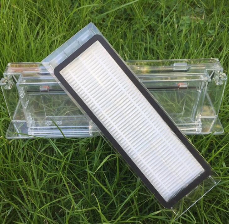 1PCS original  Spare part Dust box for Xiaomi Mi Robot Vacuum Cleaner+1pcs HEPA Filter for xiaomi robotisc Sweeper mi robot