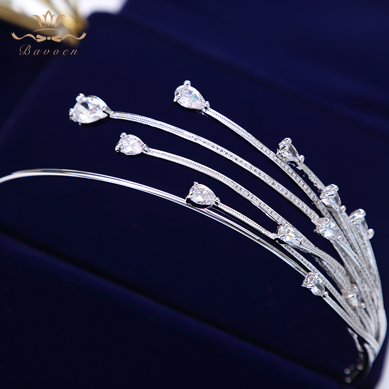 Image 4 - High end Shinny Irregular Zircon Crystal Brides Tiara Crowns 