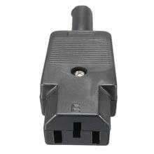 Preço de Atacado Novo Preto Plugue Rewirable Conector de Alimentação IEC 320 C13 Feminino 3pin Tomada 10a e 250 V