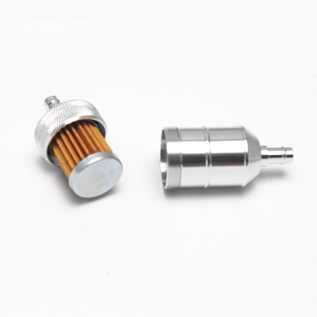 8mm 5/16'' Universal Chrome Aluminum Fuel Filter Car Petrol Diesel Inline High Quality Aluminum