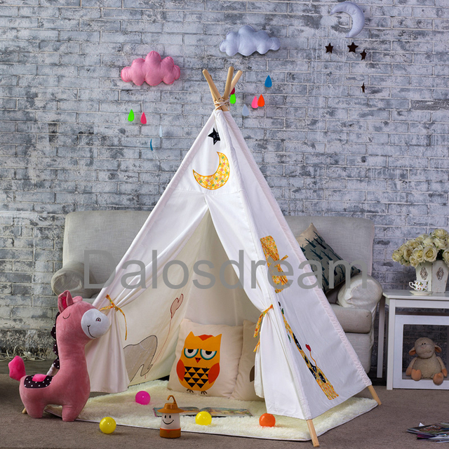 Dalos Dream Giraffe Kids Teepee Tent Indoor Tipi Tent Printed Play House Tent Indian Teepees For & Dalos Dream Giraffe Kids Teepee Tent Indoor Tipi Tent Printed Play ...