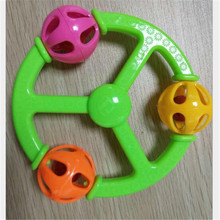 Handrattle Steering Wheel Toys Baby Soft Hand Catcher Rattle Bell Ring Baby Early Educational Toys Funny For Kids Children