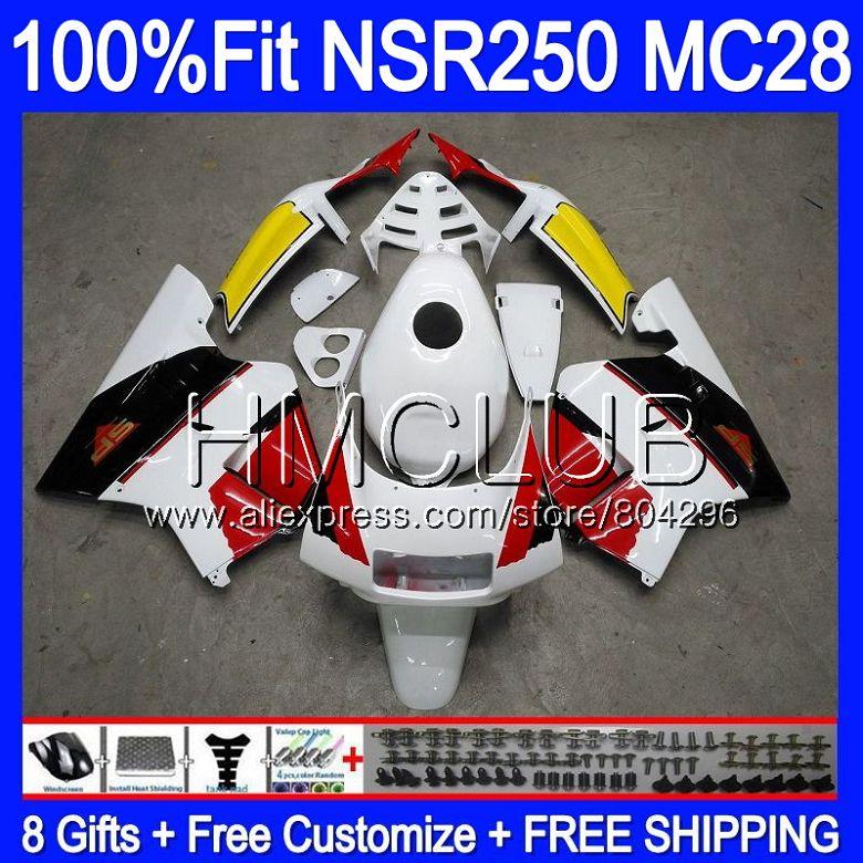 Body For HONDA MC28 PGM4 NSR250R Red white New 94 95 96 97 98 99 96HM3 NSR250 R NSR 250R 1994 1995 1996 1997 1998 1999 Fairings