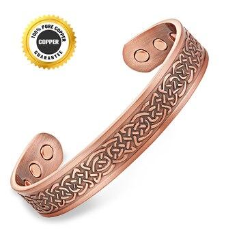 Escalus Vintage unisexe cuivre Bio énergie Bracelet pour femmes magnétique guérison hommes Bracelet de mode bijoux Bracelet charme 7
