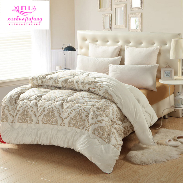 100 Cotton Quilt Super Soft Short Hair Embossed Duvets Quilted Thicker Winter