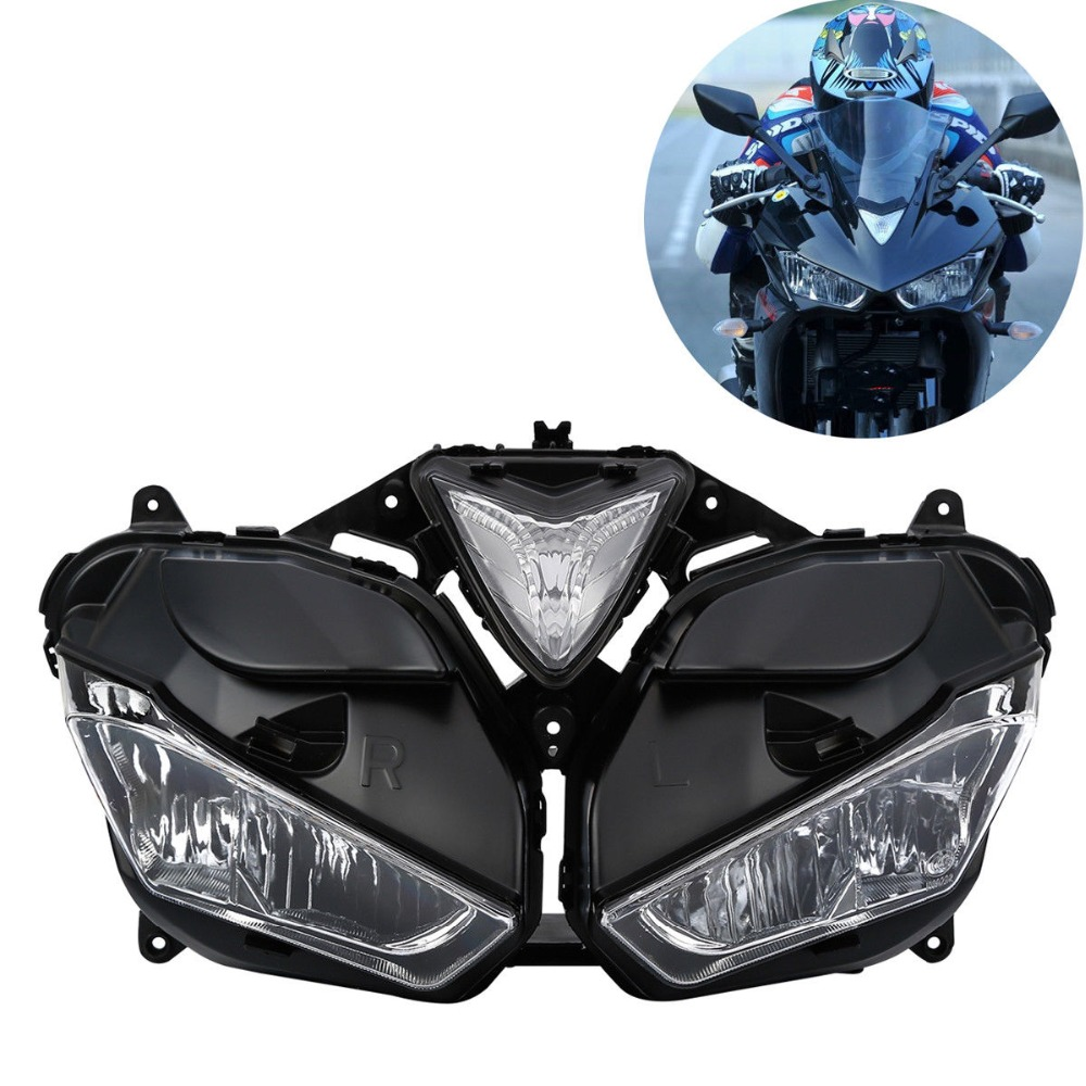 Motorcycle Front <font><b>HeadLight</b></font> Assembly Headlamp Lighting For Yamaha YZF R3 <font><b>R25</b></font> 2013-2016 2015 image