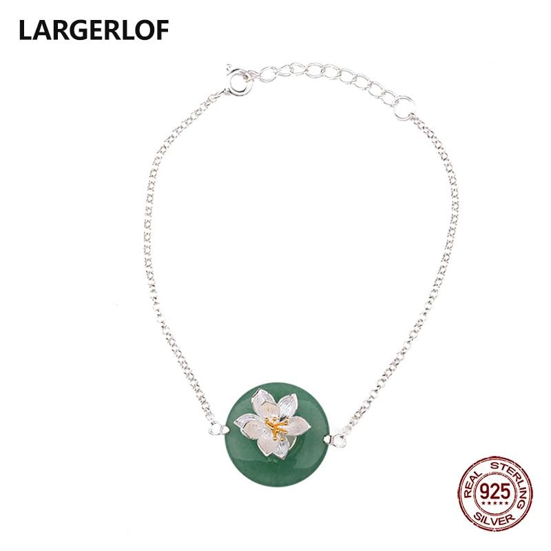 LARGERLOF 925 Sterling Silver Bracelet Woman Silver Bracelet Fine Jewelry Silver 925 Jewelry bracelets & bangles BR50102 silver 925 bracelet mens bracelets handmade star bracelet 9mm
