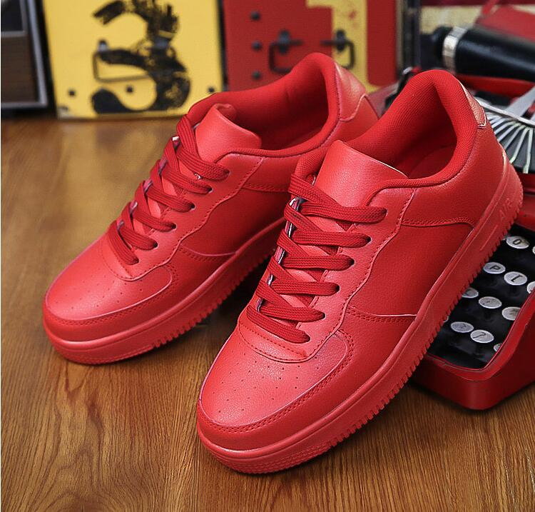 ee29b7b1557 Superstar Walking Air All White Casual Red Bottom Shoes For Unisex Fashion  Breathable OutdoorLace-up sapatos casuais size39-44